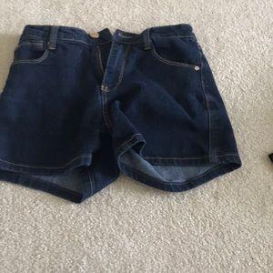 High waisted jean shorts like new